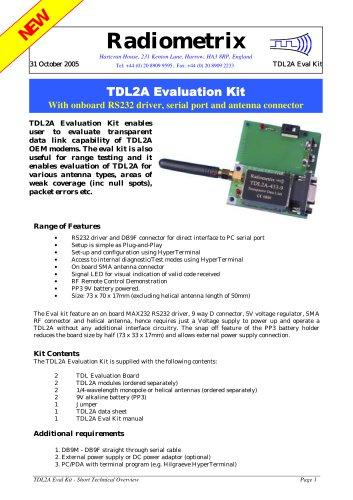 TDL2A Evaluation Kit