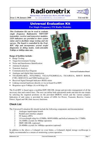 Universal Evaluation Kit