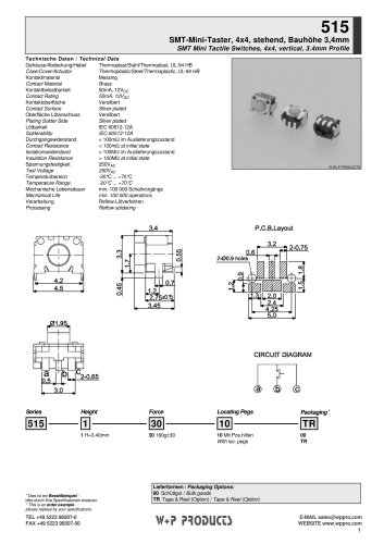 515 series - SMT Mini Tactile Switches