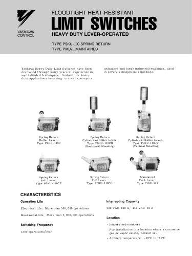 Yaskawa Heavy Duty Limit Switches