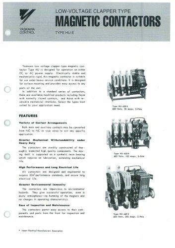 Yaskawa Magnetic Contactor HU-E series