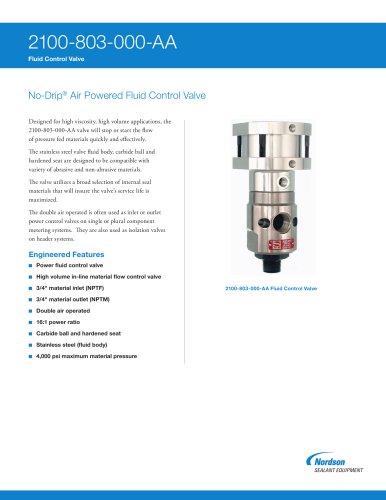 No-Drip Fluid Control Valves