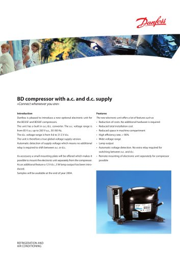 BD Compressor with AC and DC Supply