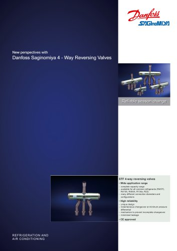 New perspectives with Danfoss Saginomiya 4 - Way Reversing Valves