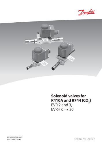 Solenoid valves, type EVR 2 and 3, EVRH 4 to 20