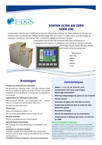 GENERATEUR D'AIR ULTRA ZERO