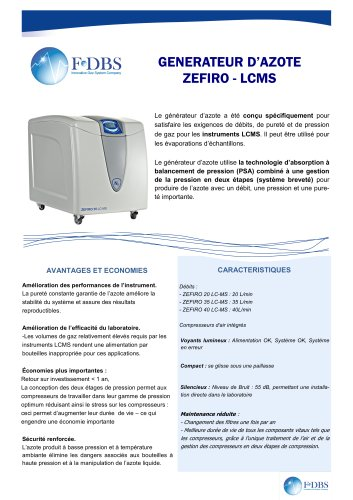 GENERATEUR AZOTE ZEFIRO LCMS