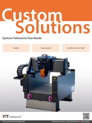 Nanosurf custom solutions