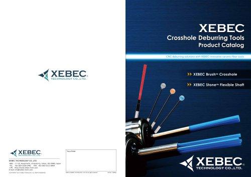 XEBEC Crosshole Deburring Tools, Brush™ Crosshole, Stone™ Flexible Shaft