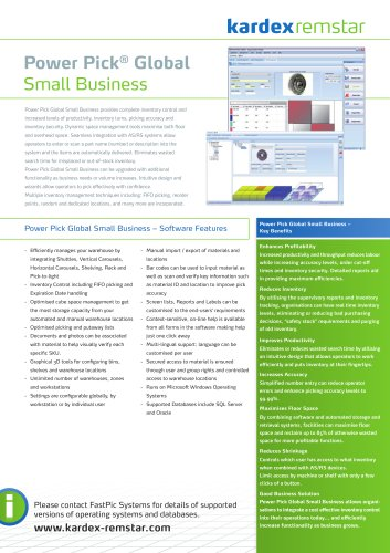Kardex PPG Small Business Package