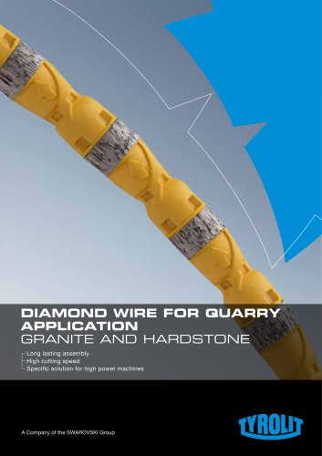 Diamond wire for quarry application