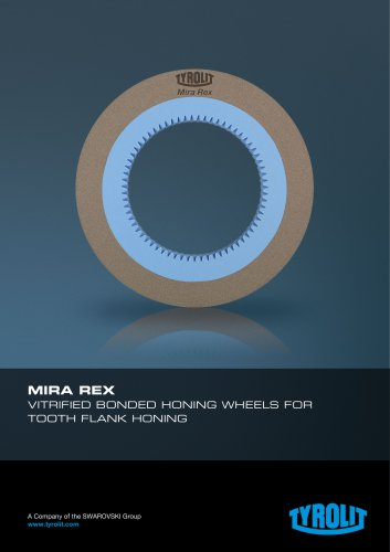 MIRA REX Vitrified bonded honing wheels for tooth flank honing