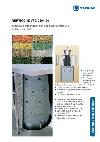 VERTICONE Machine à décortiquer conique pour les céréales