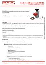 Pull / Push Adhesion, Electronic Adhesion Tester KN-10