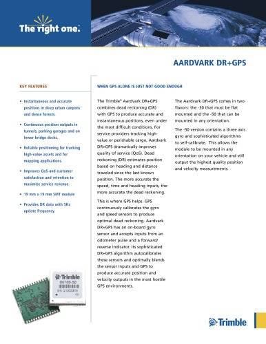 AArdvArk dr+GPS