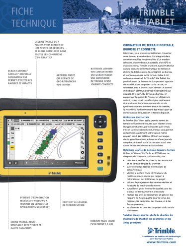 Fiche Technique Trimble Site Tablet