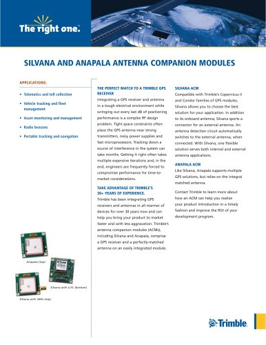 SILVANA AND ANAPALA ANTENNA COMPANION MODULES