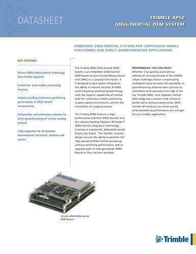 TRIMBLE AP50 GNSS-INERTIAL OEM SYSTEM