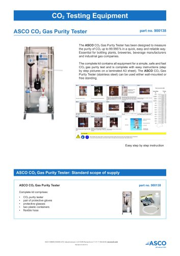 CO2 Gas Purity Tester
