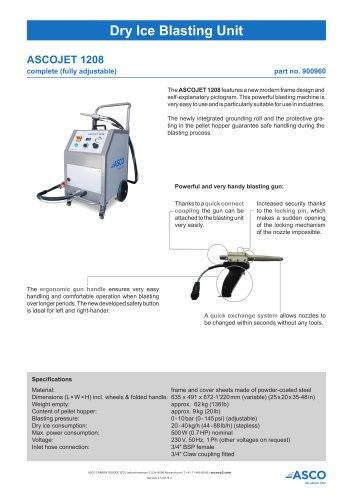 Dry Ice Blasting Unit 1208