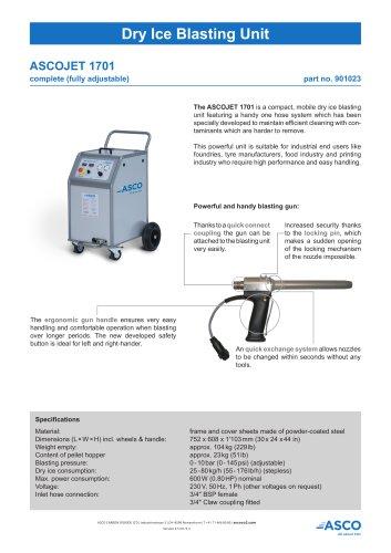 Dry Ice Blasting Unit 1701