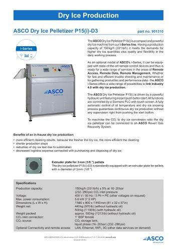 Dry Ice Pelletizer P15(i)