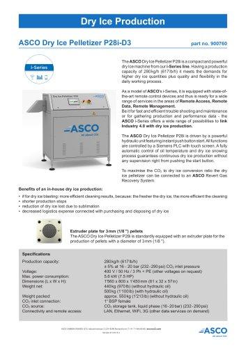 Dry Ice Pelletizer P28(i)