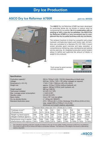 Dry Ice Reformer A700R