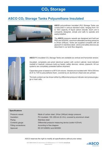 Polyurethane Insulated CO2 Storage Tank