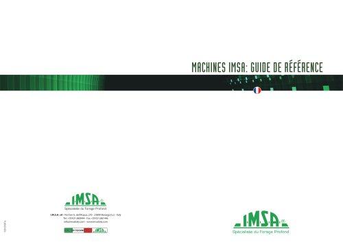 Maschines IMSA | Guide de Référence