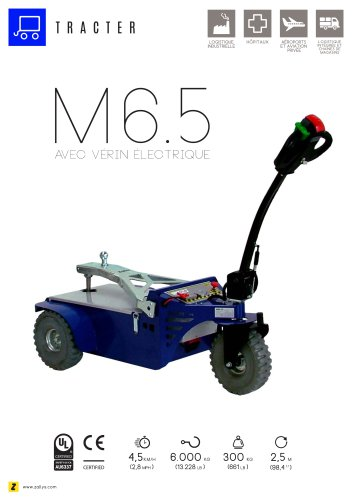 M6.5 tracteur pousseur électrique avec vérin électrique