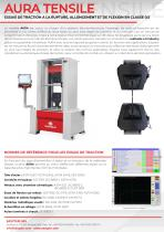 AURA Series (from 100kN up to 1500 kN) – UNIVERSAL TESTING MACHINE FOR TENSILE-COMPRESSION,ELONGATION & BENDING TESTS