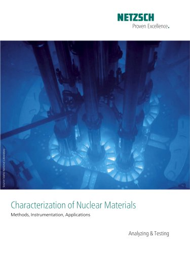 Characterization of Nuclear Materials -application brochure