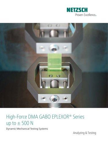 High-Force DMA/DMTA EPLEXOR® Series up to ± 500 N
