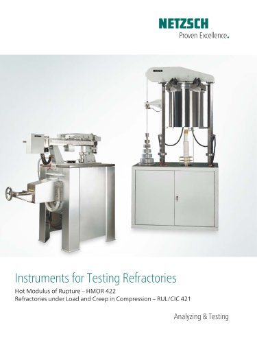 Instruments for Testing Refractories - product brochure