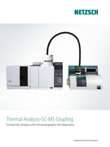 TG-GC-MS - Evolved Gas Analysis with Chromatographic Pre-Separation - product brochure