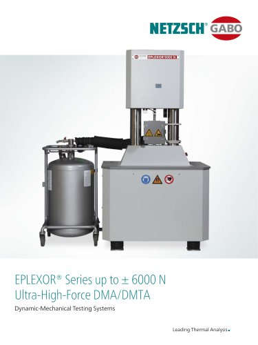 Ultra-High-Force DMA/DMTA EPLEXOR® Series up to ± 6000 N