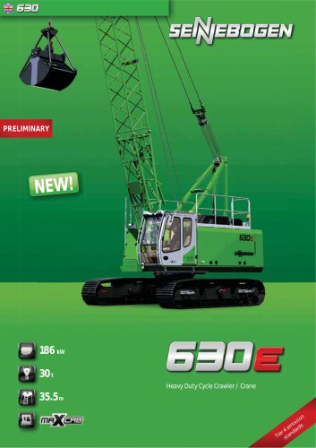Duty Cycle Crawler Crane 630 Crawler-HD - Crane Line