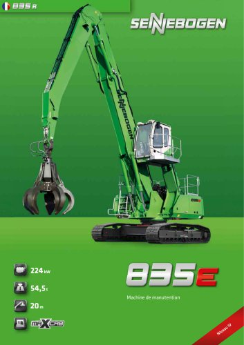 Machine de manutention 835 R E-Serie - Green Line