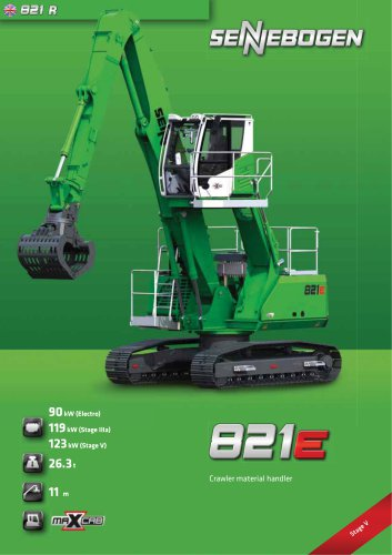 Material handling machine 821 Crawler E-Series - Green Line