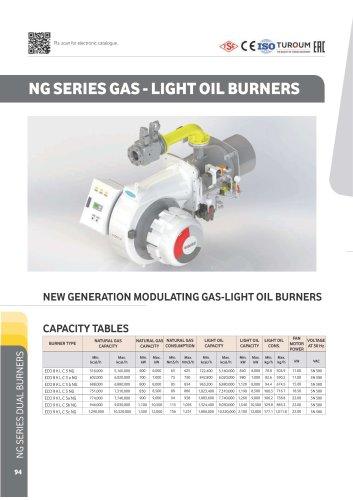 NG Series Gas - Light oil burner