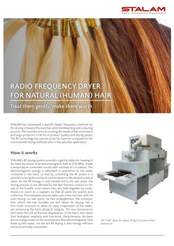 Dryers for natural hair extensions