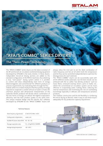 """""""RFA/S COMBO"""" Twin-Power series dryers"""