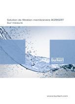 Solution de filtration membranaire BÜRKERT Sur mesure