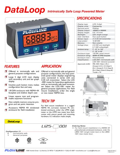 Intrinsically Safe Loop Powered Meter