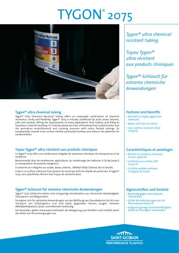 Saint-Gobain Performance Plastics - Tygon® Ultra-chemical resistant