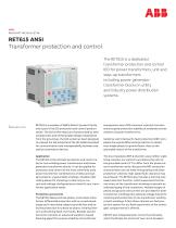 DE SCR I P TI V E B U LLE TI N RET615 ANSI Transformer protection and control