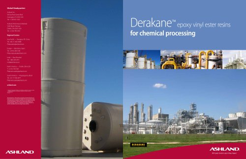 Derakane?  epoxy vinyl ester resins for chemical processing