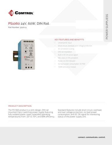 PS1060 24V, 60W, DIN Rail
