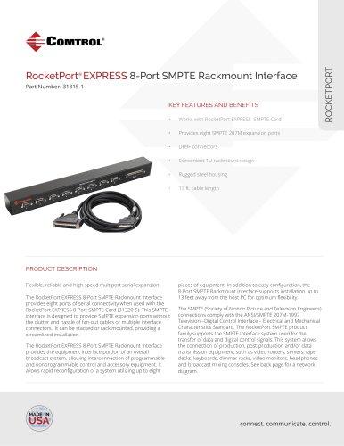 RocketPort® EXPRESS 8-Port SMPTE Rackmount Interface